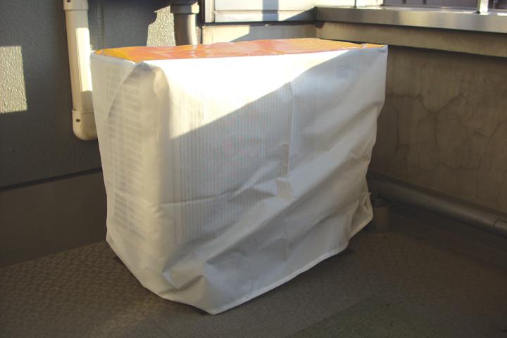 エアコン室外機養生カバー画像-2