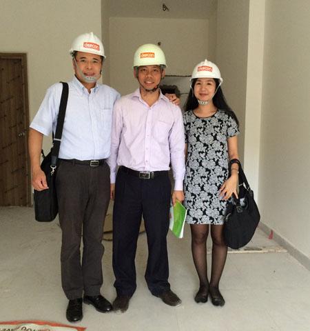 ベトナム建築現場